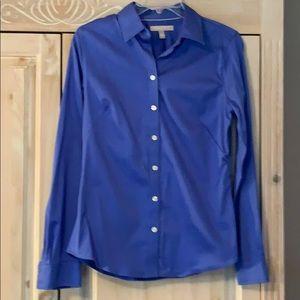 Blue button front shirt